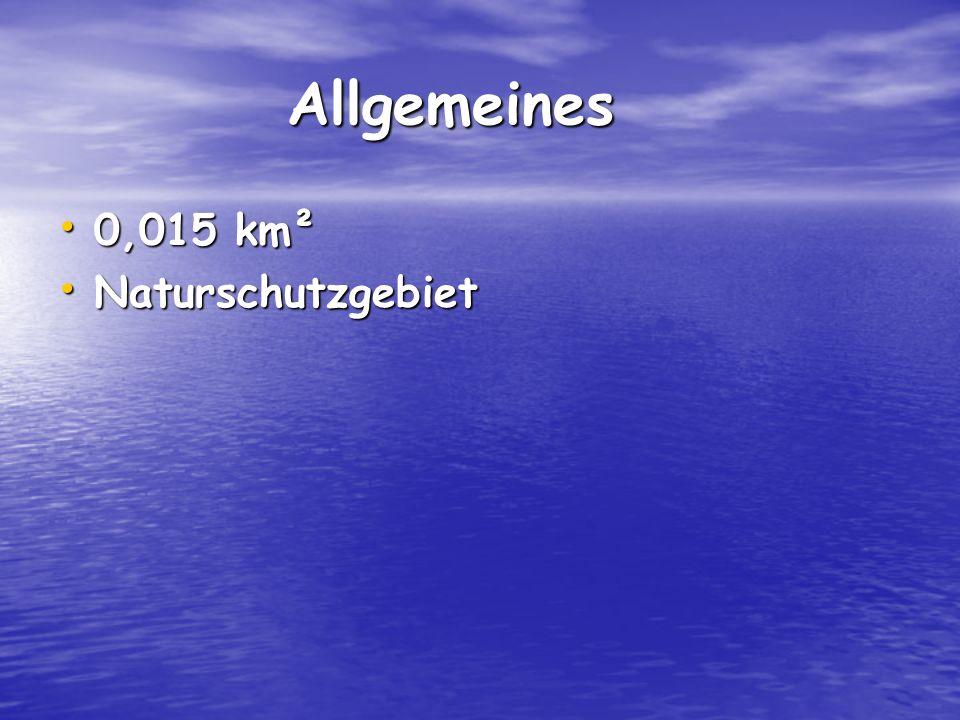 Allgemeines Allgemeines 0,015 km² 0,015 km² Naturschutzgebiet Naturschutzgebiet