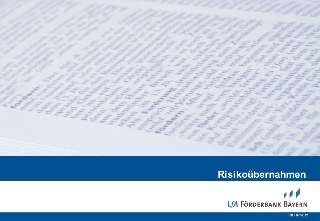 10 07/2012 Risikoübernahmen
