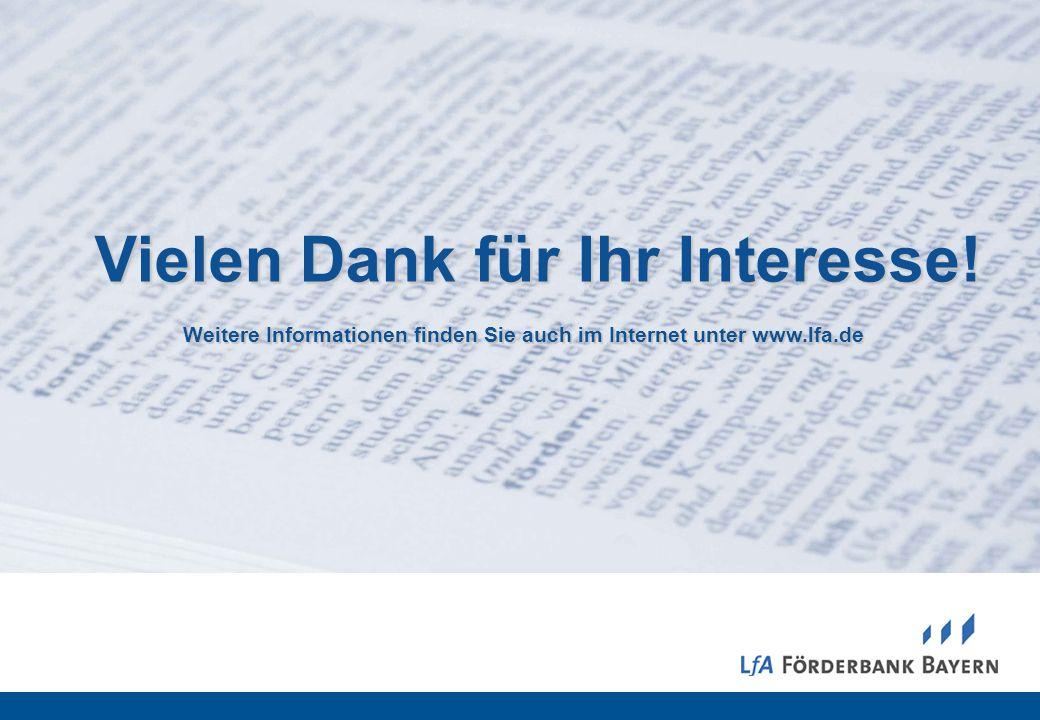 19 07/2012 Vielen Dank für Ihr Interesse! Weitere Informationen finden Sie auch im Internet unter www.lfa.de