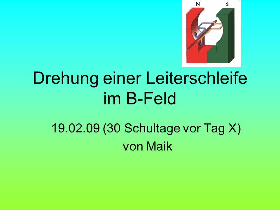 Drehung einer Leiterschleife im B-Feld 19.02.09 (30 Schultage vor Tag X) von Maik