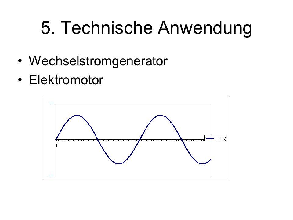 5. Technische Anwendung Wechselstromgenerator Elektromotor