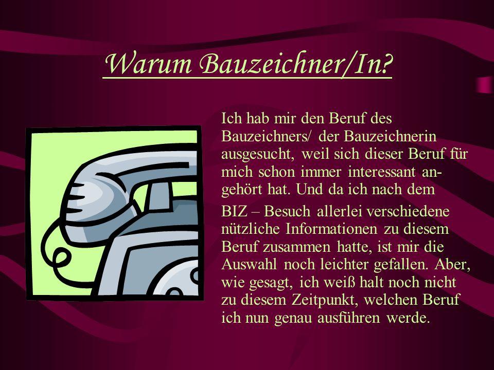 Warum Bauzeichner/In.