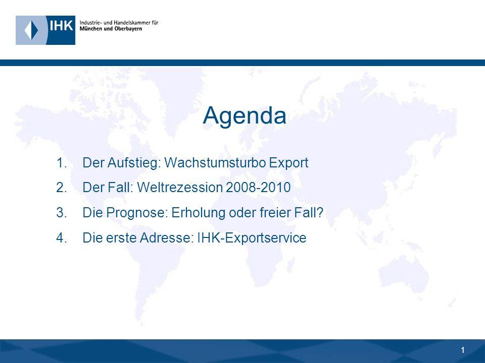 0 Bayern-Export: Vom Wachstumsturbo zum Rohrkrepierer? 18. Juni 2009, IHK-Gremium Traunstein Dr. Manfred Gößl