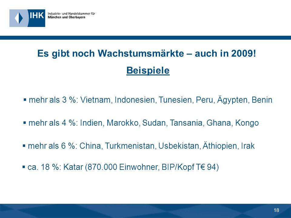 17 Fazit Megathema für Unternehmen: - mittel-/langfristig: neue Absatzmärkte erschließen - mittel-/langfristig: neue Geschäftsfelder, Kooperationen, I