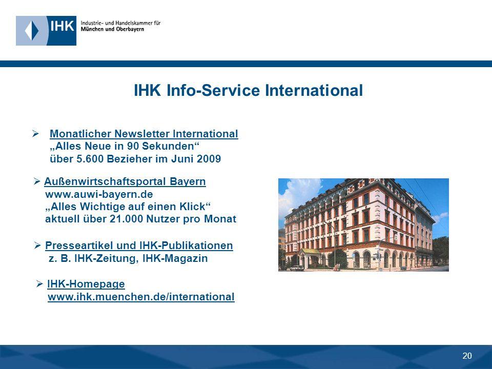 19 4. Die erste Adresse: IHK-Exportservice