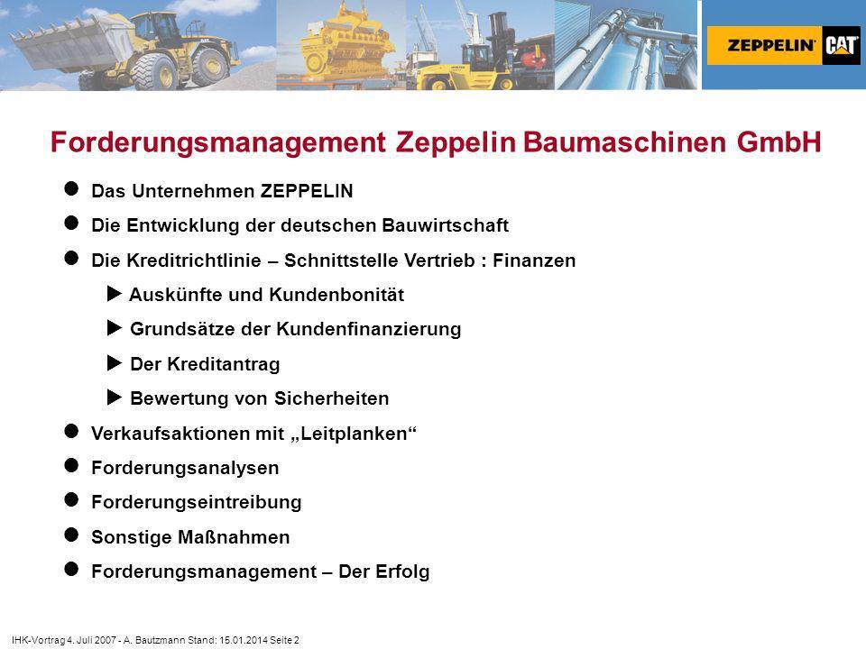 ZEPPELIN GmbH - Konzern Für Ideen, Leistung, Fortschritt