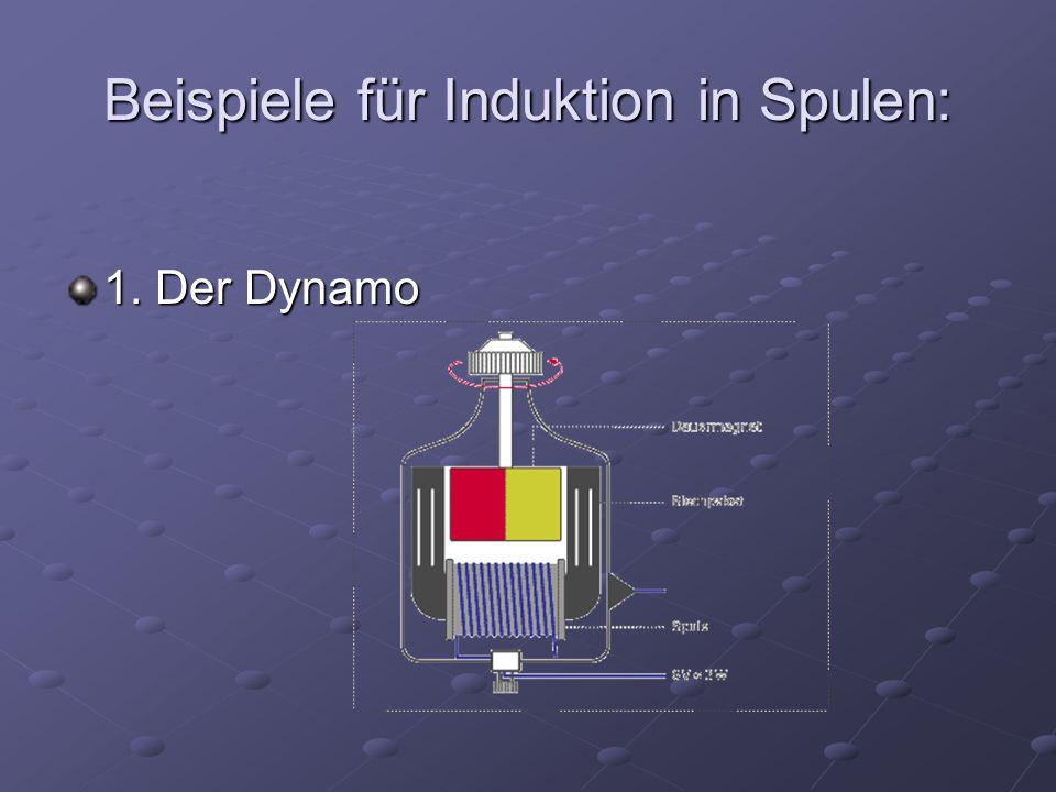 Beispiele für Induktion in Spulen: 1. Der Dynamo