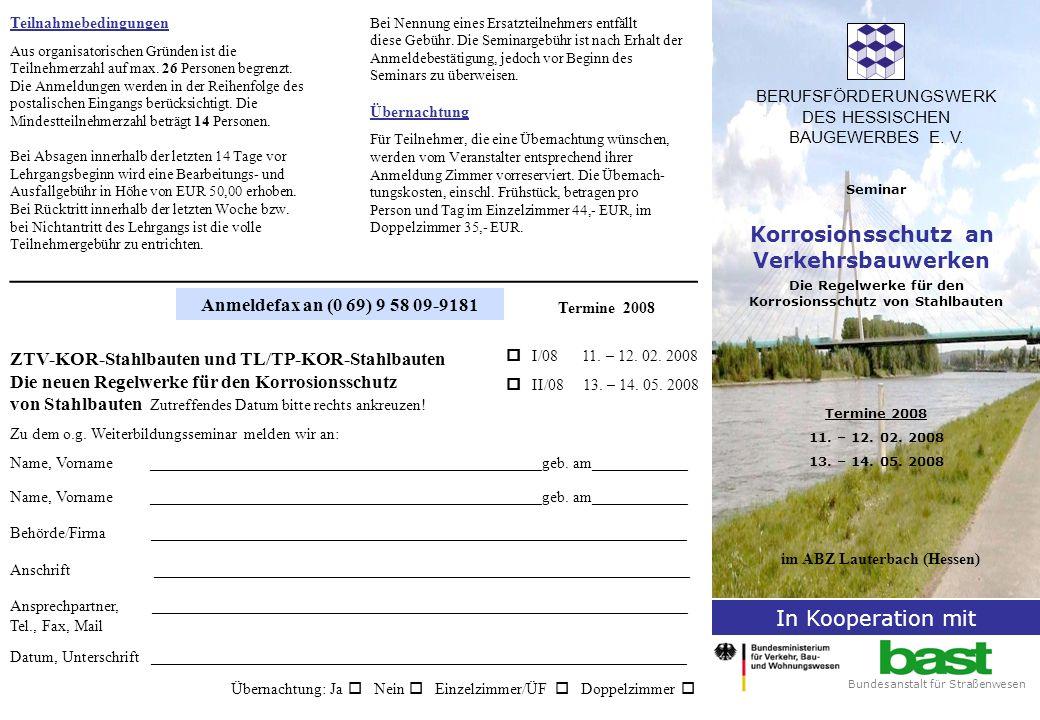 Zum Thema Die Ablösung der DIN 55 928 durch die europäische Norm DIN EN ISO 12 944 Korrosionsschutz von Stahlbauten durch Beschichtungssysteme, die Privatisierung der Bundesbahn und die Weiterent- wicklung des Standes der Technik erforderten auch ein neues ergänzendes Regelwerk.