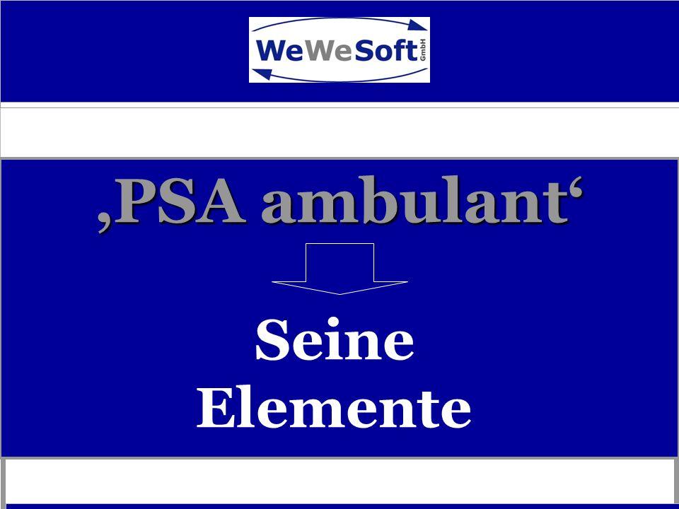 PSA ambulant - Start - Programmnavigation