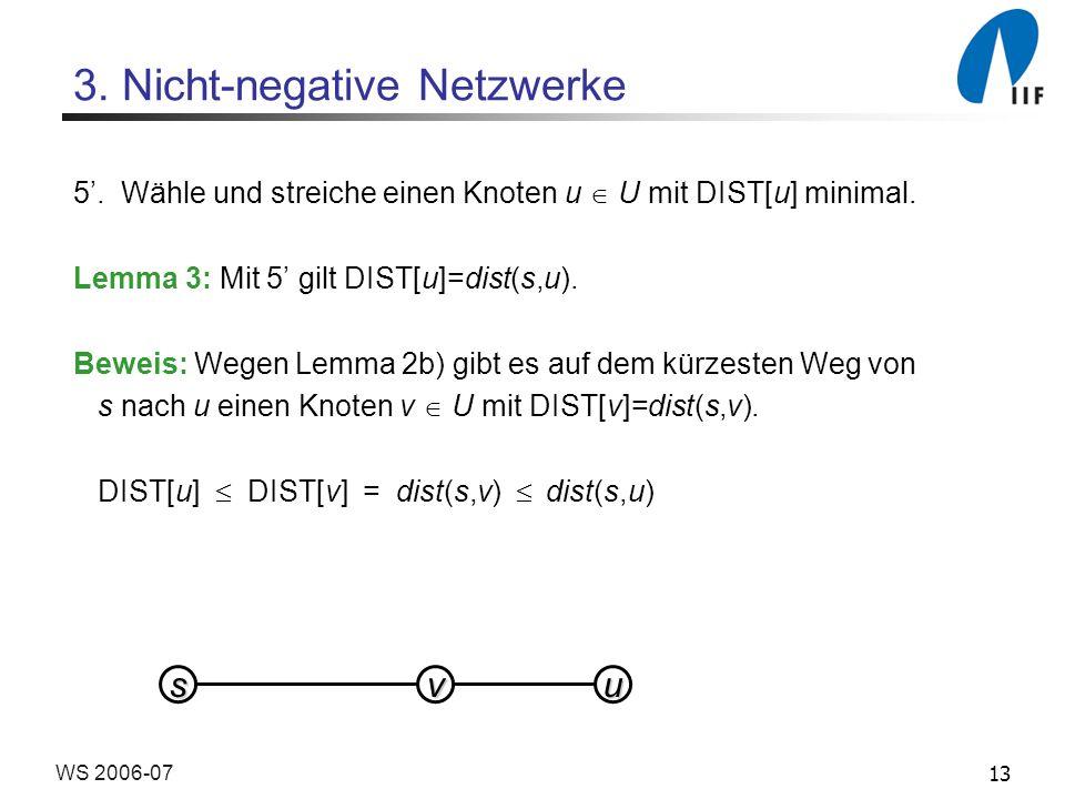 13WS 2006-07 3. Nicht-negative Netzwerke 5.