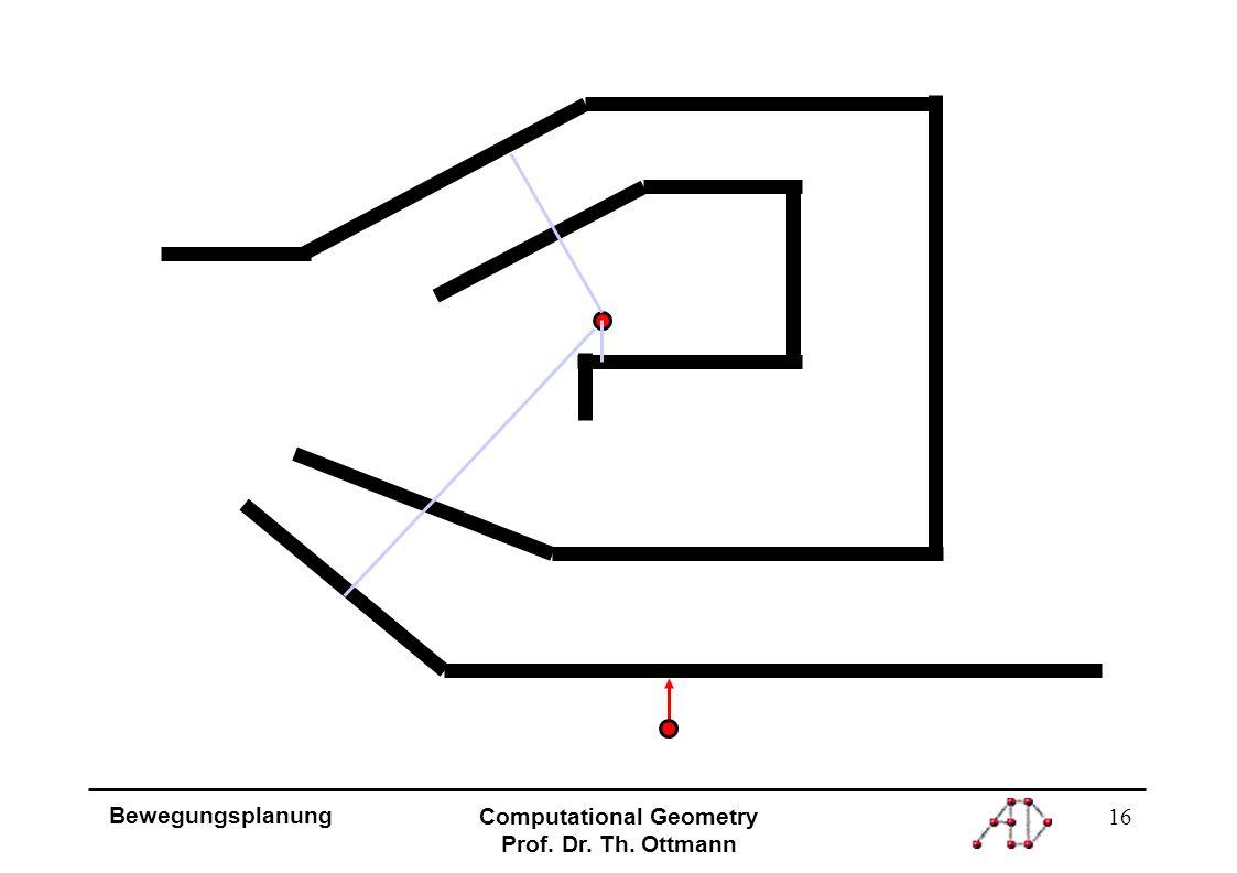 16 Bewegungsplanung Computational Geometry Prof. Dr. Th. Ottmann