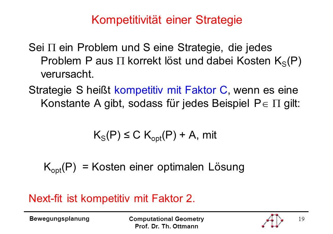 19 Bewegungsplanung Computational Geometry Prof. Dr.