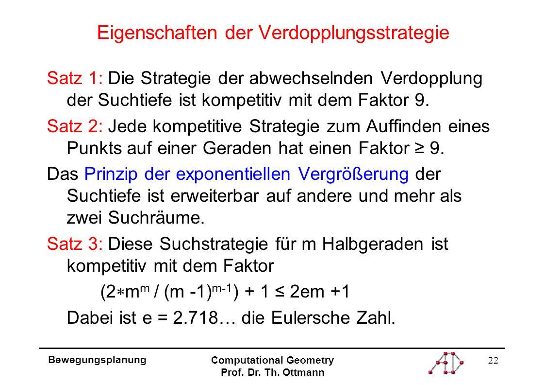 22 Bewegungsplanung Computational Geometry Prof. Dr.