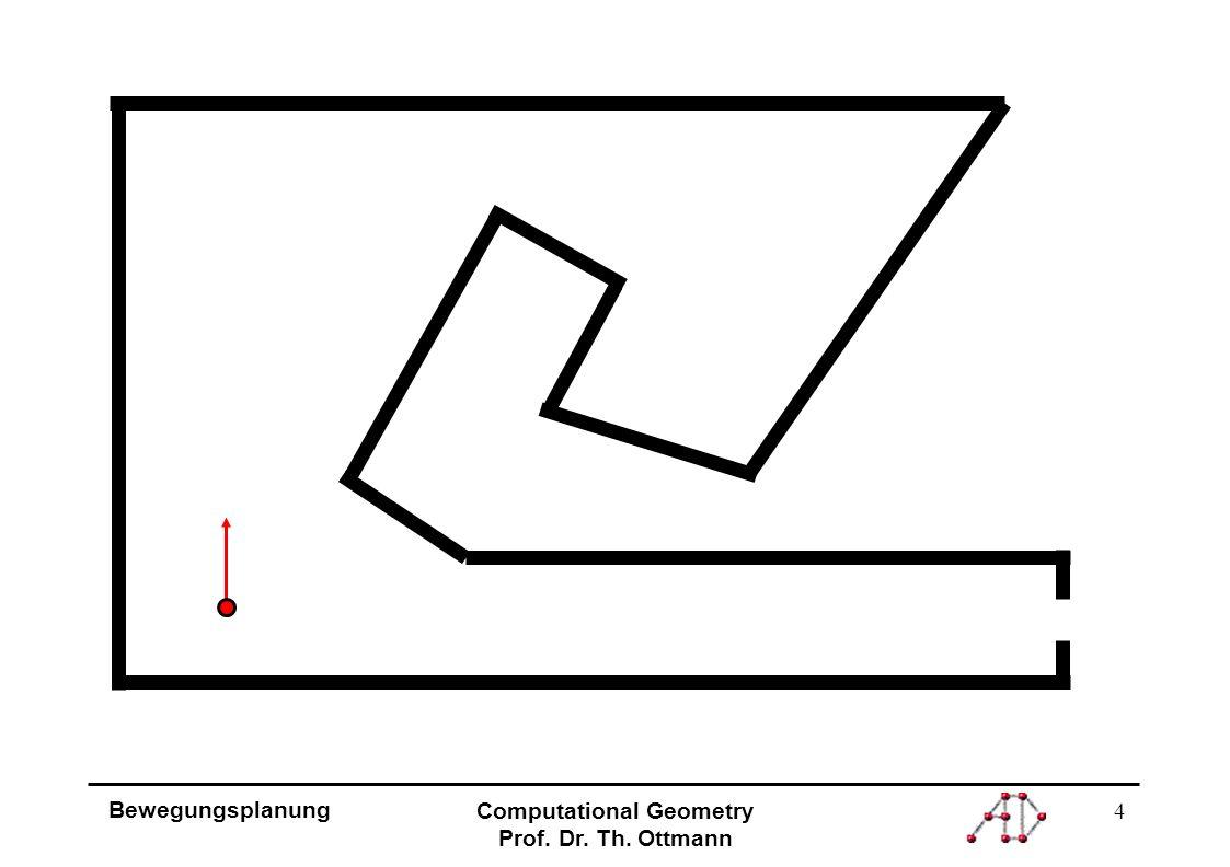 5 Bewegungsplanung Computational Geometry Prof. Dr. Th. Ottmann