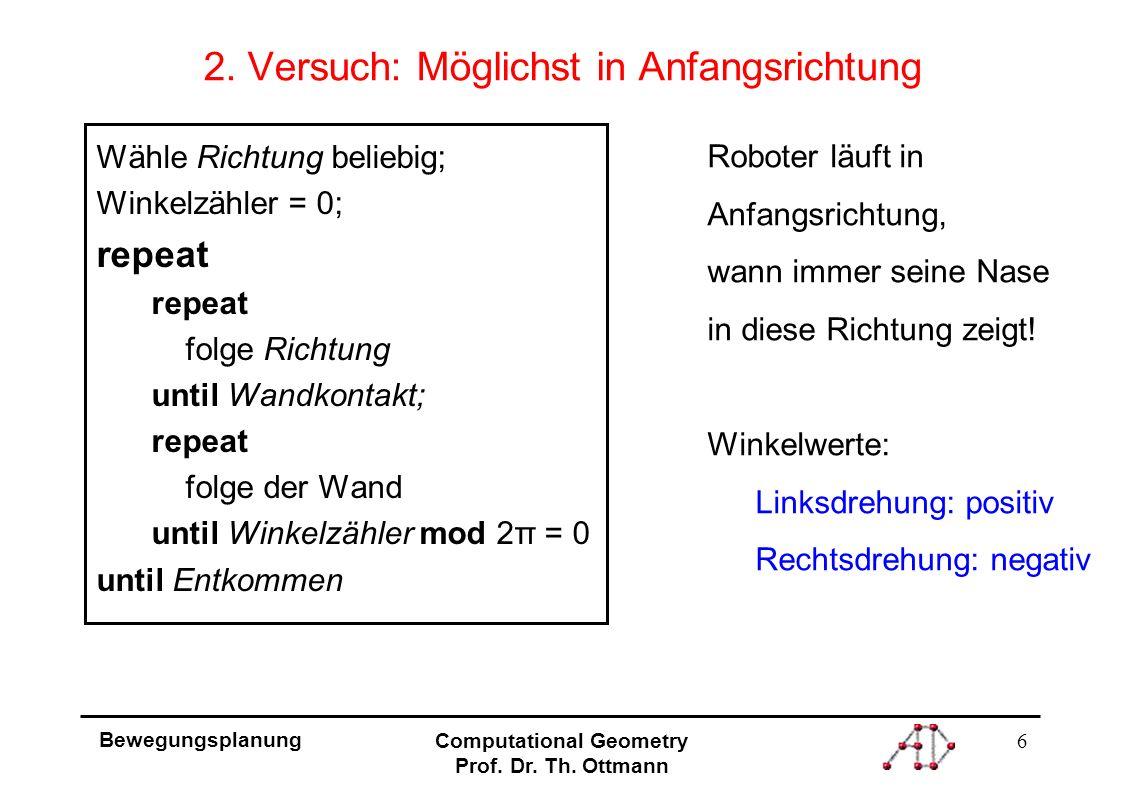 6 Bewegungsplanung Computational Geometry Prof. Dr.