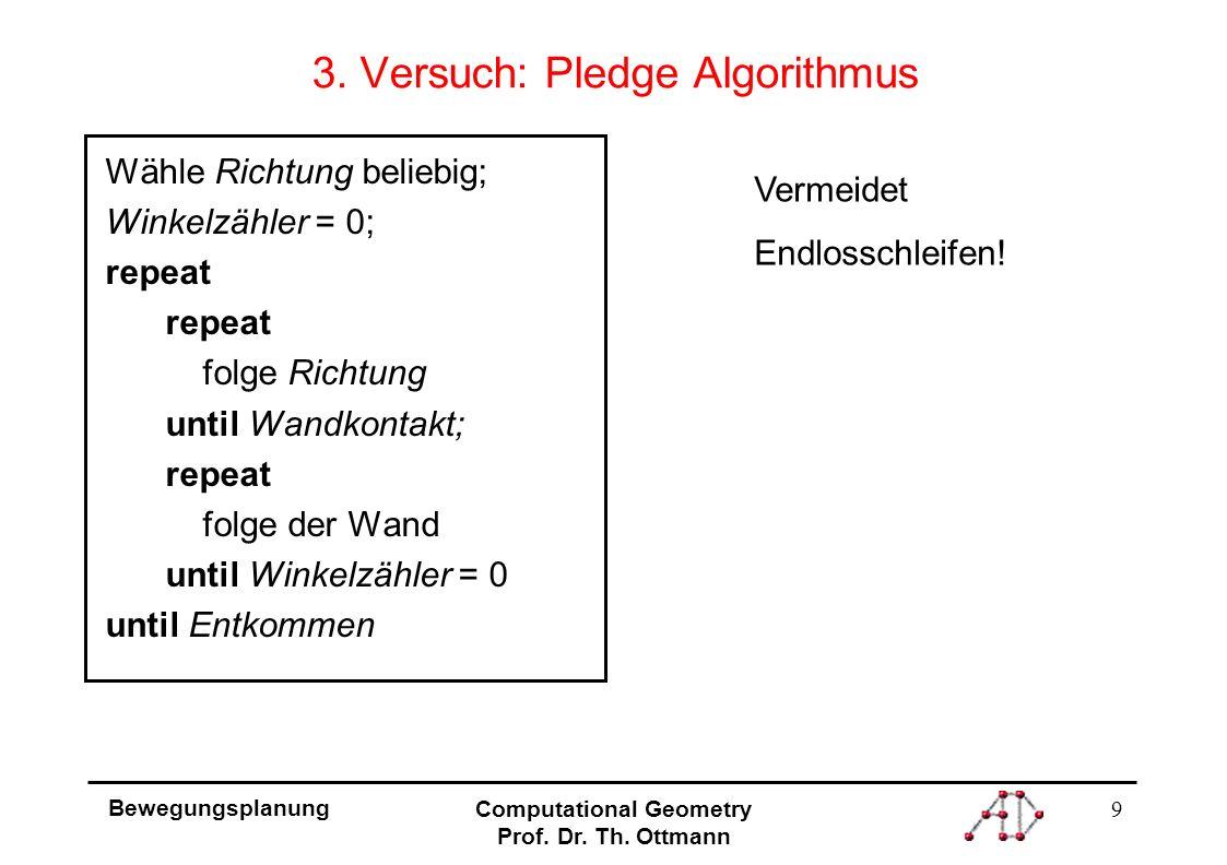 9 Bewegungsplanung Computational Geometry Prof. Dr.