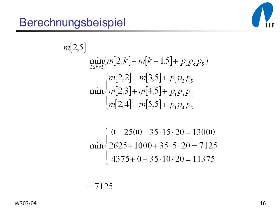 16WS03/04 Berechnungsbeispiel
