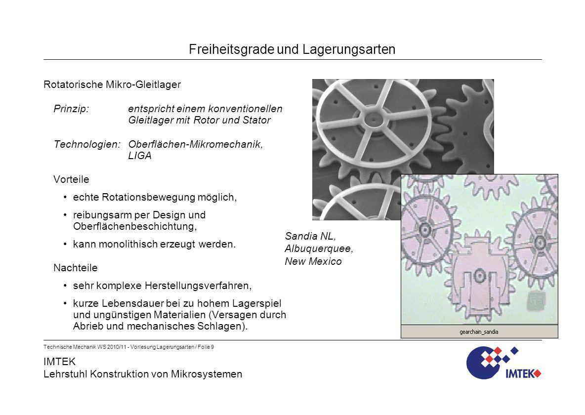 IMTEK Lehrstuhl Konstruktion von Mikrosystemen Technische Mechanik WS 2010/11 - Vorlesung Lagerungsarten / Folie 9 Freiheitsgrade und Lagerungsarten R