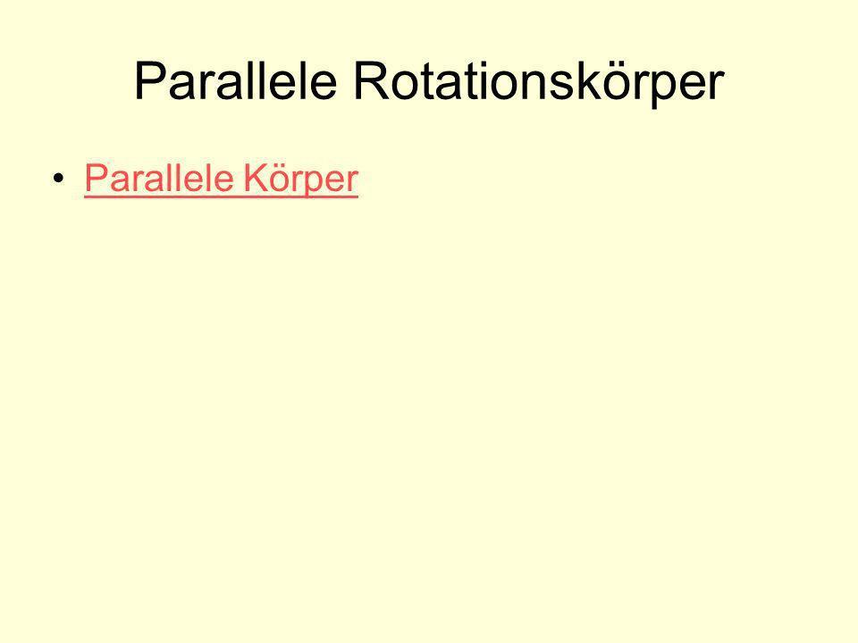 Parallele Rotationskörper Parallele Körper