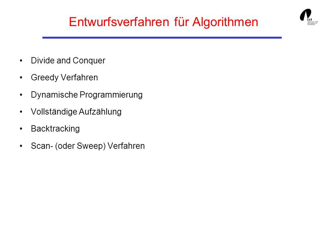 Backtracking (6) Kennzeichen von Problemen, bei denen Backtracking Anwendung findet: Lösung kann als Vektor a [ 0 ], a [ 1 ],...