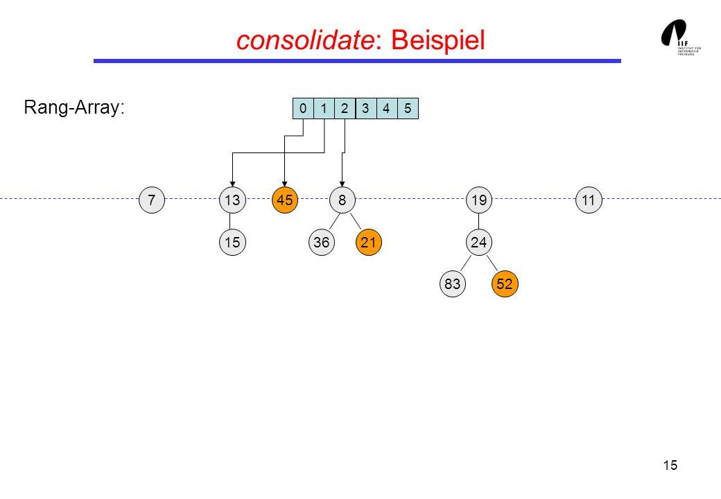 15 consolidate: Beispiel 1913458 3621 24 15 8352 117 012345 Rang-Array: