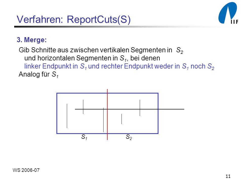 11 WS 2006-07 Verfahren: ReportCuts(S) 3.