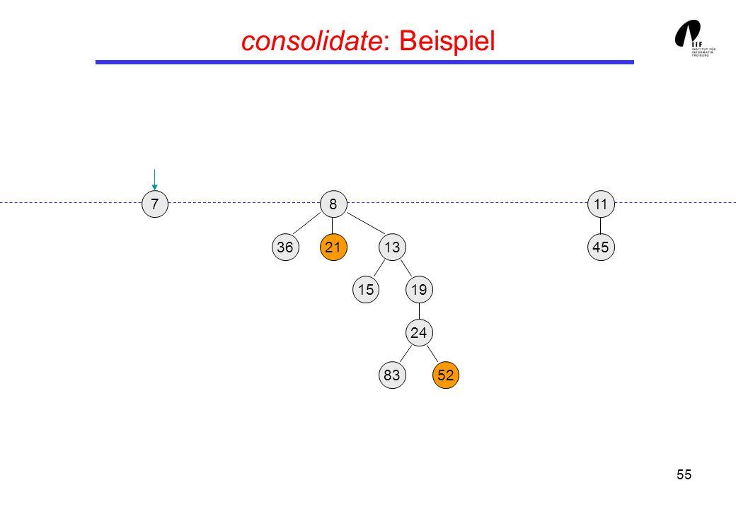 55 consolidate: Beispiel 19 13 45 8 3621 24 15 8352 117
