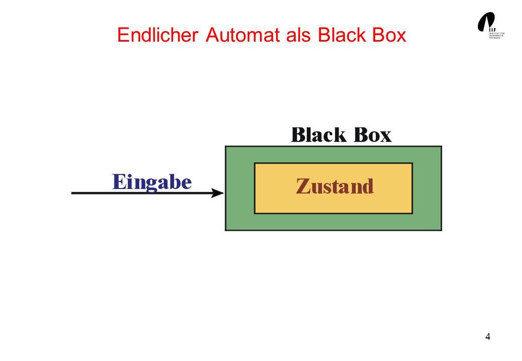 25 Reguläre Sprachen Die Klasse der von endlichen Automaten akzeptierbaren Sprachen heißt auch Klasse der regulären Sprachen, m.a.W: Eine Sprache L * heißt regulär, wenn es einen endlichen Automaten (einen DFA) A gibt mit L = L(A).