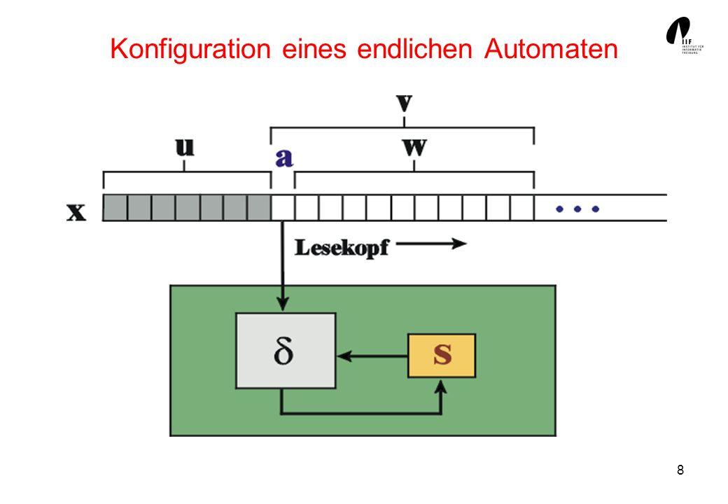 9 Alphabete Automaten verarbeiten Zeichenfolgen, die aus atomaren Symbolen bestehen.