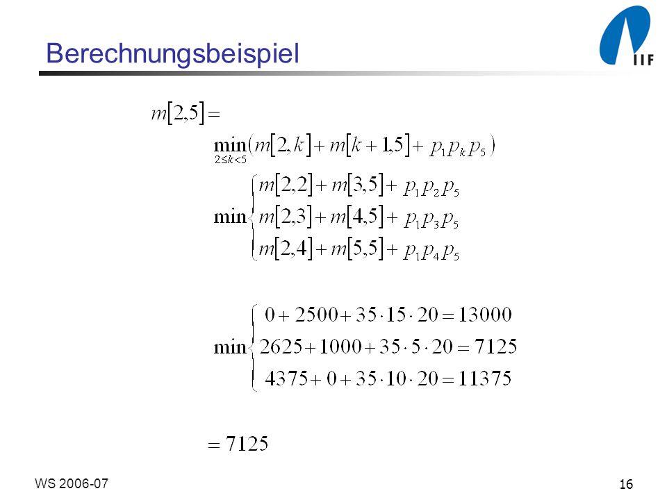 16WS 2006-07 Berechnungsbeispiel
