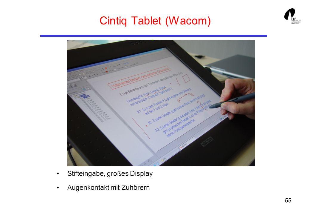 55 Cintiq Tablet (Wacom) Stifteingabe, großes Display Augenkontakt mit Zuhörern