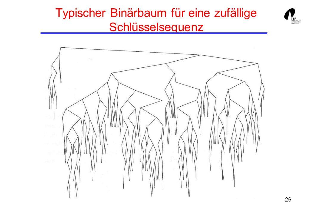26 Typischer Binärbaum für eine zufällige Schlüsselsequenz