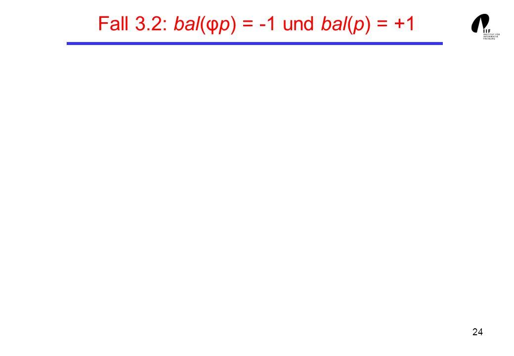 24 Fall 3.2: bal(φp) = -1 und bal(p) = +1