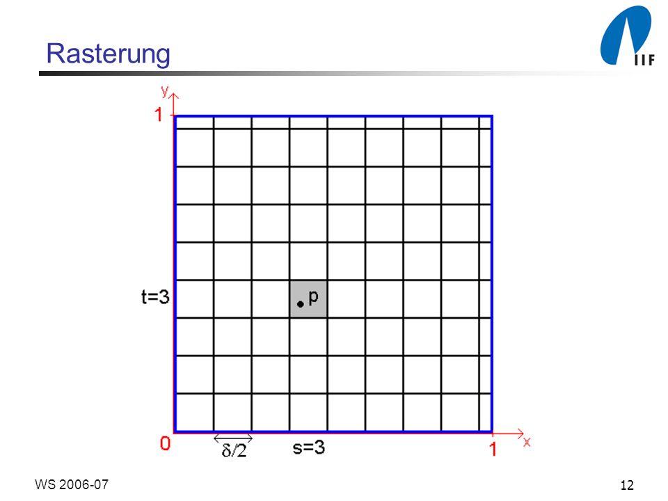 12WS 2006-07 Rasterung