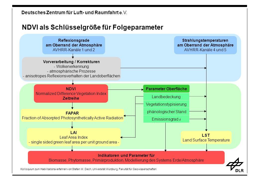 Deutsches Zentrum für Luft- und Raumfahrt e.V. Kolloquium zum Habilitationsverfahren von Stefan W. Dech, Universität Würzburg, Fakultät für Geowissens
