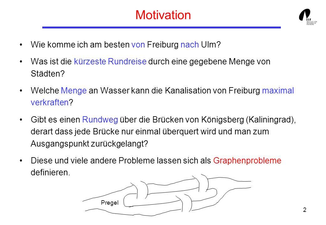 2 Motivation Wie komme ich am besten von Freiburg nach Ulm.