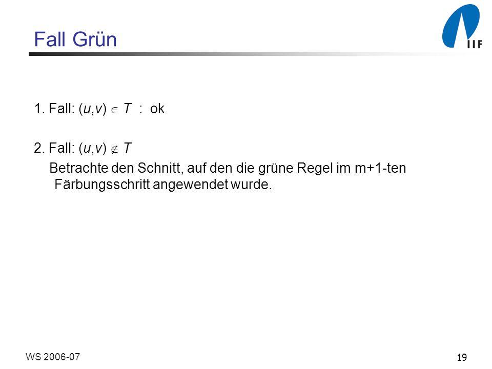19WS 2006-07 Fall Grün 1.Fall: (u,v) T : ok 2.