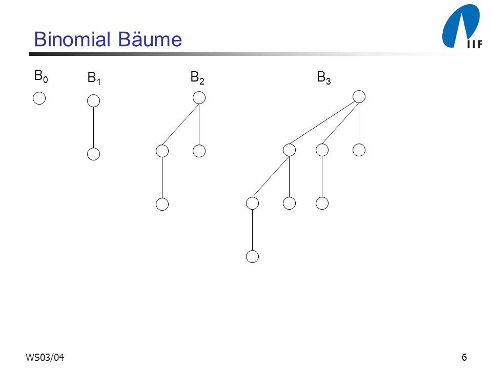 6WS03/04 Binomial Bäume B1B1 B2B2 B3B3 B0B0