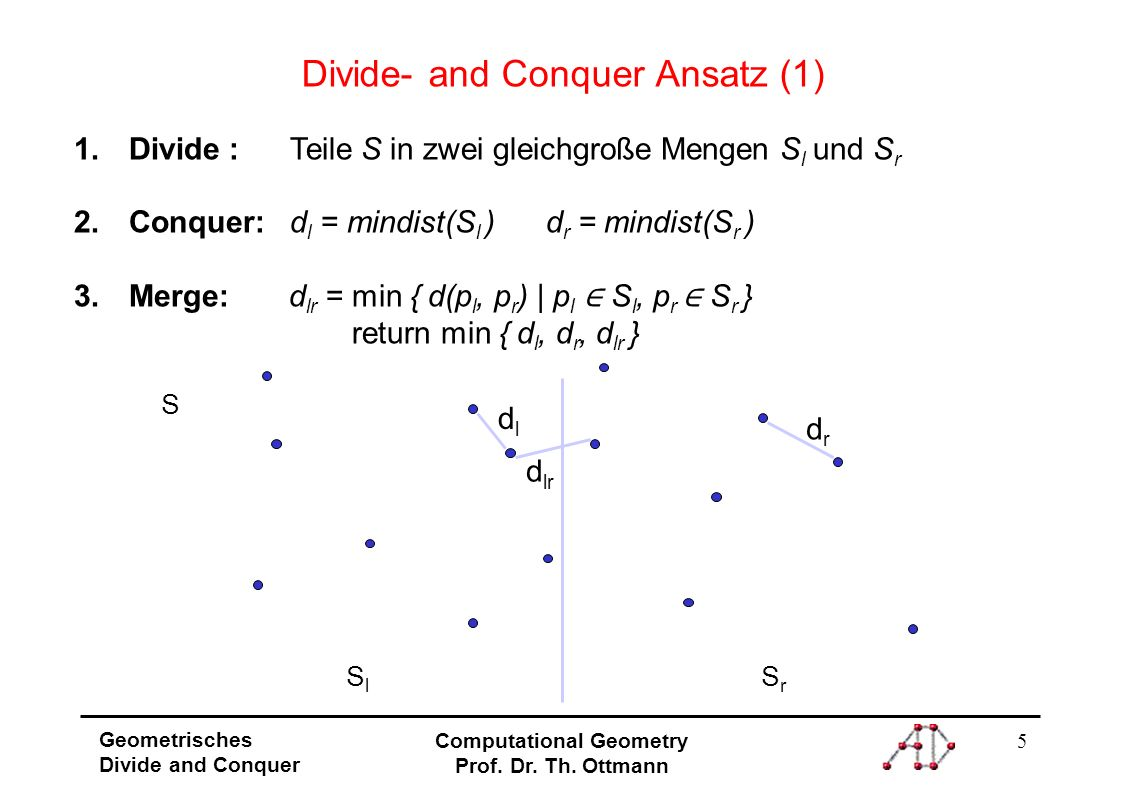 6 Geometrisches Divide and Conquer Computational Geometry Prof.
