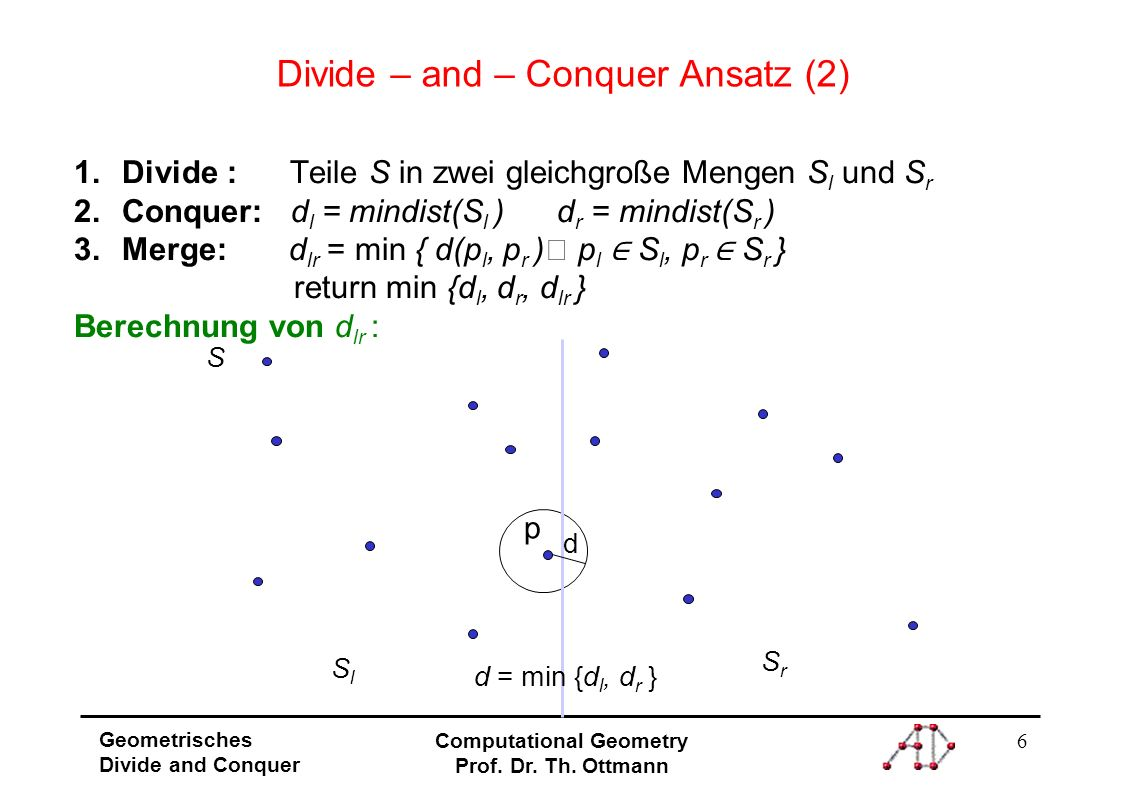 7 Geometrisches Divide and Conquer Computational Geometry Prof.