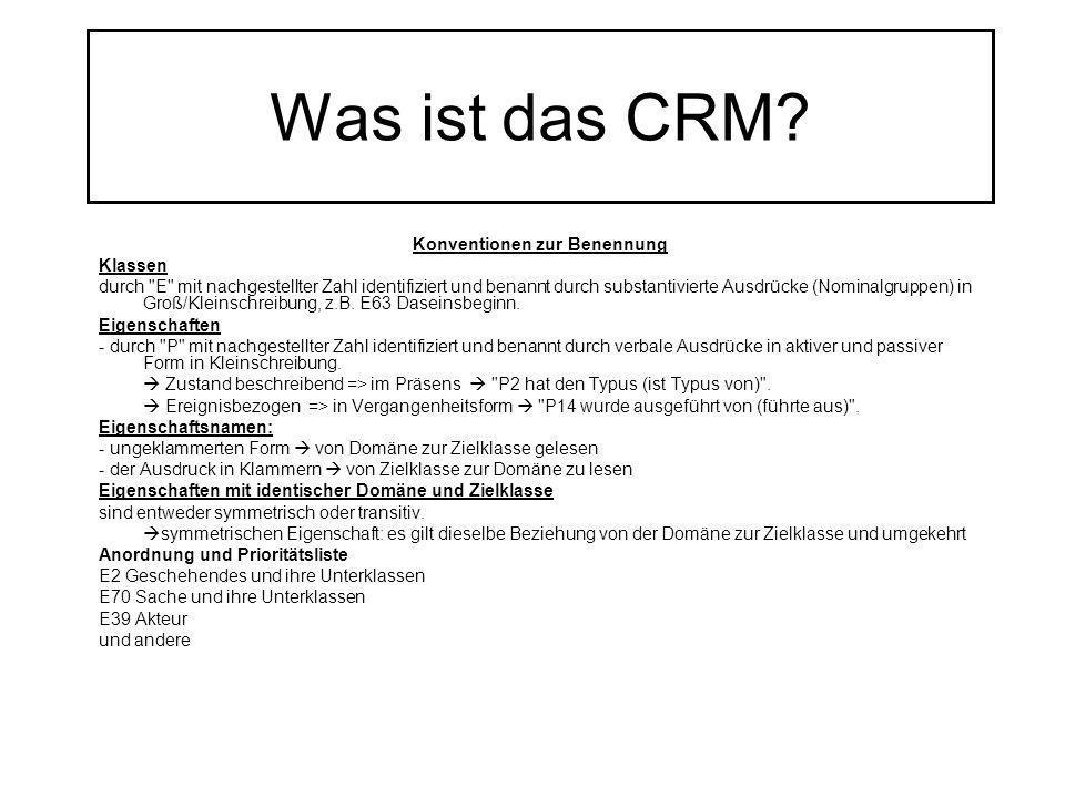 Was ist das CRM? Konventionen zur Benennung Klassen durch