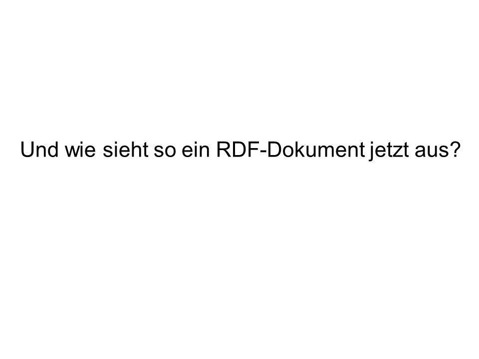 Und wie sieht so ein RDF-Dokument jetzt aus?