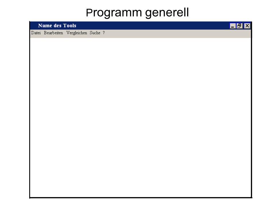 P rogramm generell