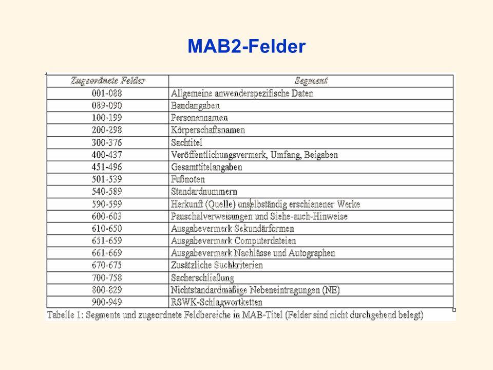 MAB2-Felder