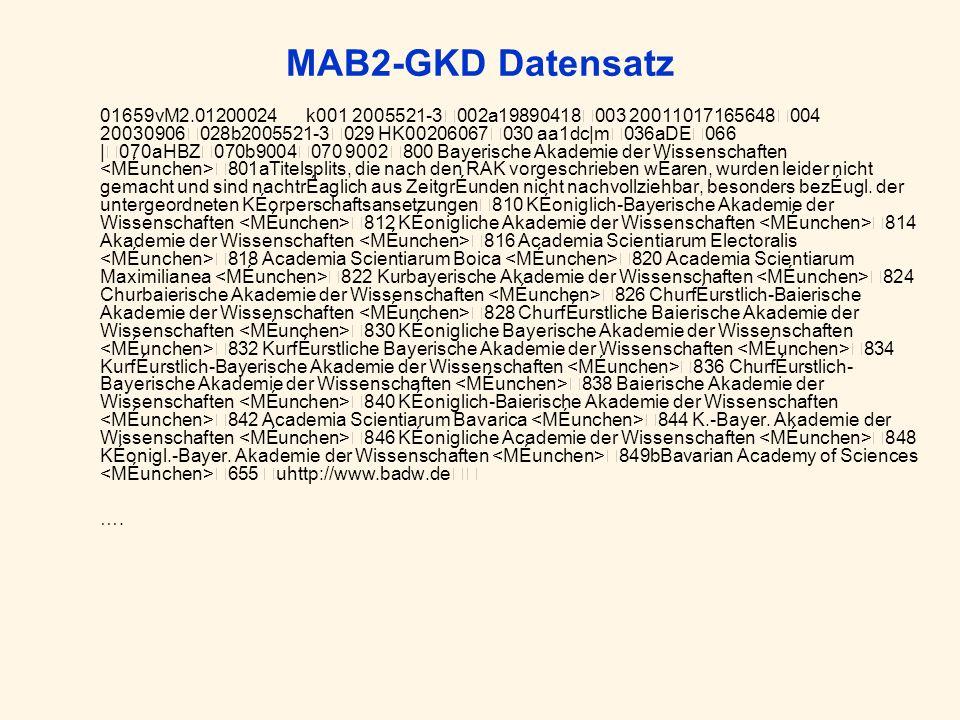 MAB2-GKD Datensatz 01659vM2.01200024 k001 2005521-3002a19890418003 20011017165648004 20030906028b2005521-3029 HK00206067030 aa1dc|m036aDE066 |070aHBZ0
