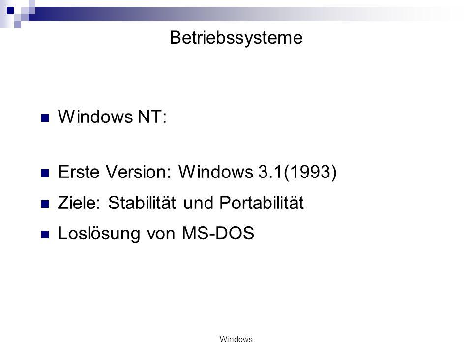 Windows Betriebssysteme BIOS (Basic Input Output System): Bios ist die Schaltzentrale des Rechners, die nahe zu alle Funktionen verwaltet oder zumindest beeinflusst.