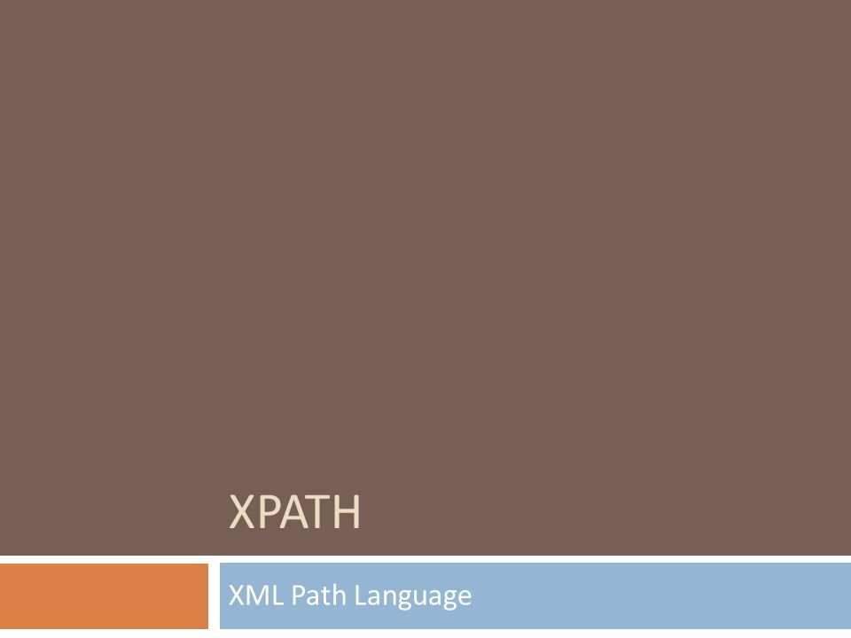 XPATH XML Path Language