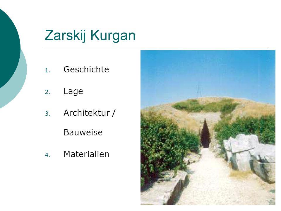Zarskij Kurgan 1. Geschichte 2. Lage 3. Architektur / Bauweise 4. Materialien