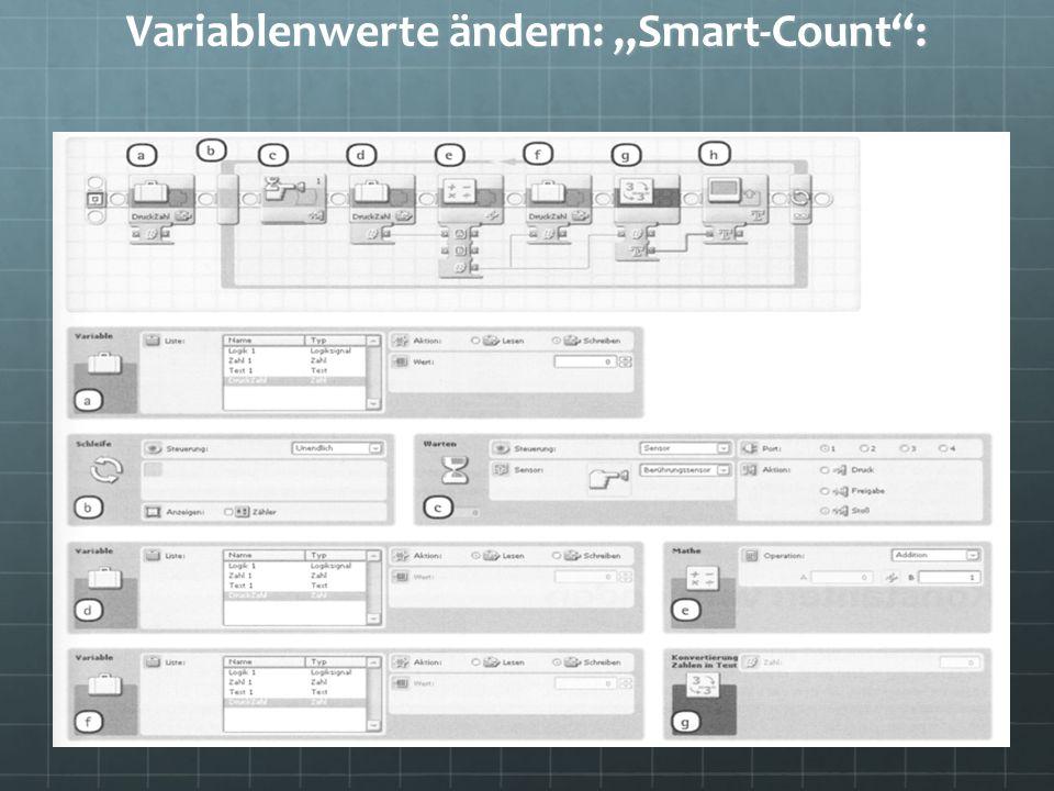 Variablenwerte ändern: Smart-Count: