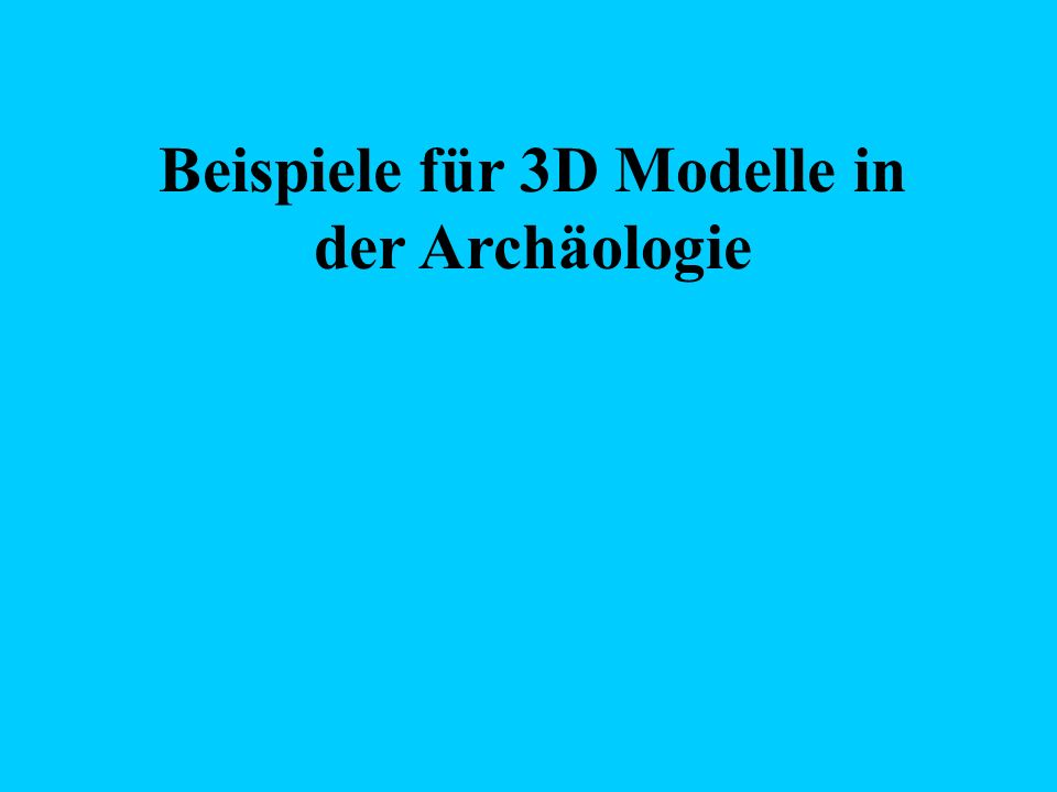 I.3D editor for archaeology http://www.cg.tuwien.ac.at/studentwork/CESCG /CESCG98/TSuchanek/ Faculty of Electrical Engineering and Computer Science Technical University of Brno, Czech republic Autor: Tomas Suchanek